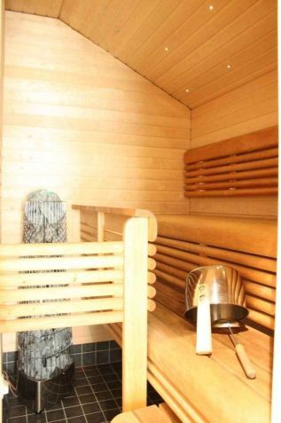 The attic apartment has also a sauna